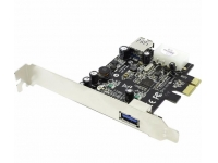 STLab U-720 (RTL) PCI-Ex1, USB3.0, 1 port-ext, 1 port-int